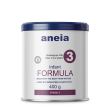 Aneia - German Growing Up Infant Milk Formula Powder 3 from 1 to 2 years (HACCP, ISO, Organic & Halal) 400 g tin