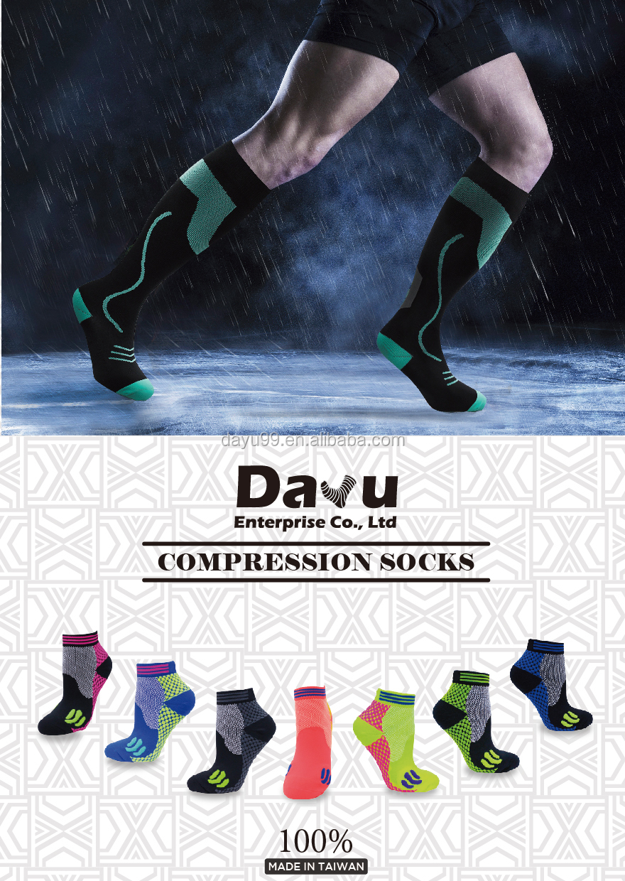 2017 Newest compression crew socks 20-30mmHg Made In Taiwan
