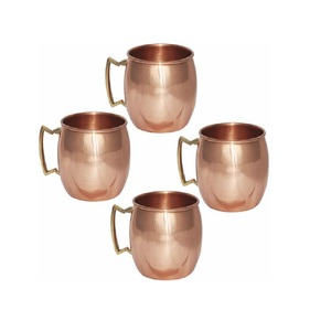 Solid Brass Thumb Rest Handle Copper Mug For Vodka and Moscow Mule