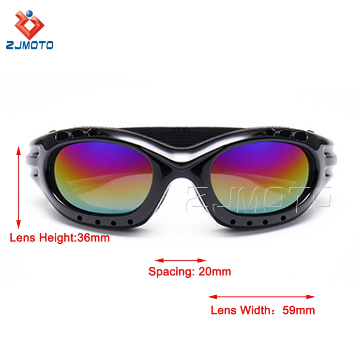 Gray Ergonomic Design Racing Ski Goggles Motorcycle Dustproof Sunglasses Laser Eye Protection Goggles