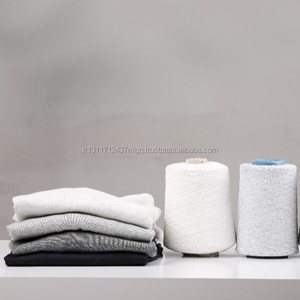 % 50 cotton %50 polyester regenerated recycled yarn for flat knitting machine