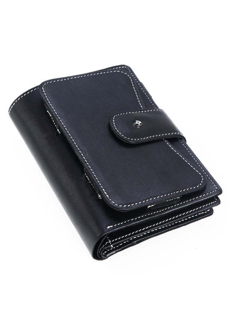 JL Collections Unisex Black Ten in One Utility Travel Wallet