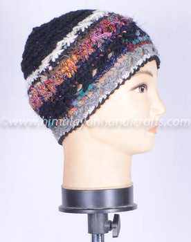 Handmade woolen winter hat , HHWTH 0042-E