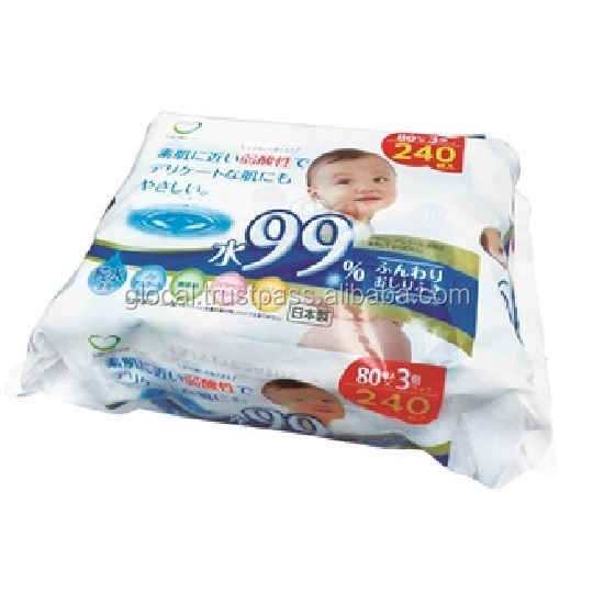 Japan Baby Wipes 99% water baby wipe 80sheets 3p/pack Wholesale