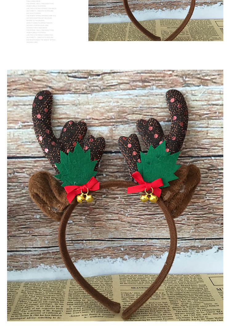 6Pcs Christmas Decorations Deer Horn Hair Clasp Headband Hair Band for Kids