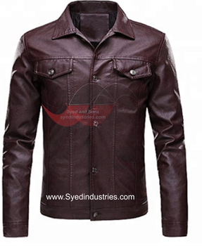 Leather Motorbike Jacket with Removable dual density armor