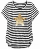 100% Cotton Short Sleeve Round Neck Girl`s T-Shirt