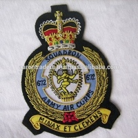 Manufacturer all kind of bullion hand embroidered badges / AARON TRADERS SINCE 1985