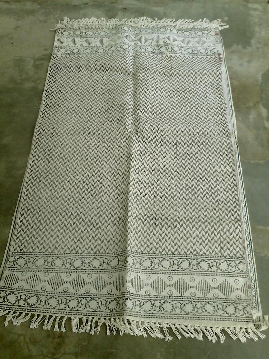 new design handmade stonewashed vintage design cotton dhurrie