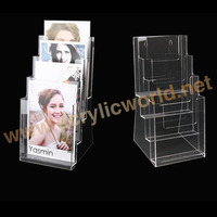plastic wall hanging brochure holder A5 size