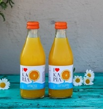 Ikaria Soft Drinks - Orange Juice Carbonated Drink Beverage with Natural Juices & Aromas - Box of 250ml / 330ml Glass Bottle