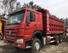 Used sinotruk howo 6x4 375hp dump truck left hand drive widely used tipper trucks for sale
