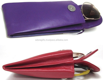 Pure leather case for spectacles, sunglasses, eyeglasses with custom logo made in india