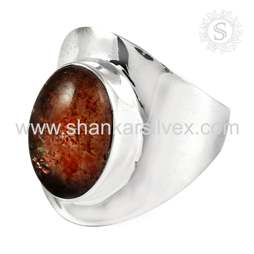 Jaipur antique pearl 925 sterling silver ring gemstone ring silver jewellery wholesale exporterl