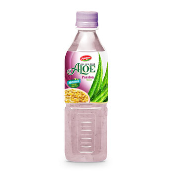 Aloe vera products export Aloe vera drink with passion flavour in PET Bottle 500ml