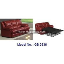 Cheap Leather Sofa Bed For Living Room, 3 Seater Sofa Cum Bed, Antique Design Living Room Furniture