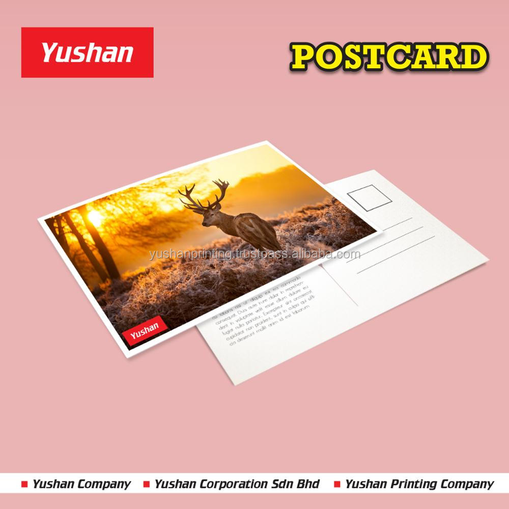 Attractive Post Card Printing suitable for gift and souvenir, wholesale or ordering in bulk.