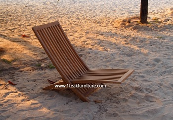 COMFORT TEAK EASY CHAIR RELAX FURNITURE BEACH - POOL WITH CUSHION
