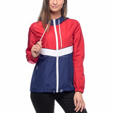 2017 new article ladies zipper windbreaker jacket panel style jacket european style jacket