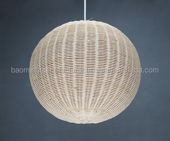 Southeast Asia Tropical Bamboo Chandelier DIY Wicker Rattan Lamp Shades Weave Hanging Light