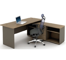 Wooden Office Furniture Desk with Side Cabinet