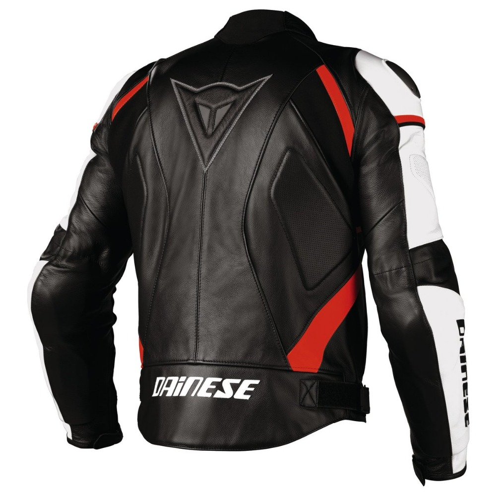 Super Rider Perforated Leather Motorcycle Jacket