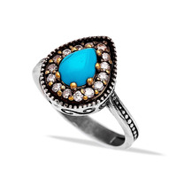Silver Jewelry With Gemstones Ottoman Design Wholesale Handcrafted Authentic 925 Sterling Silver Jewelry Ring