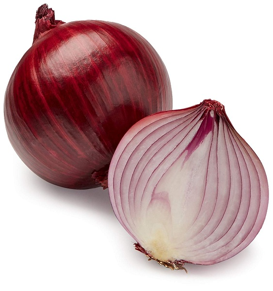 Round fresh red onion available for sale