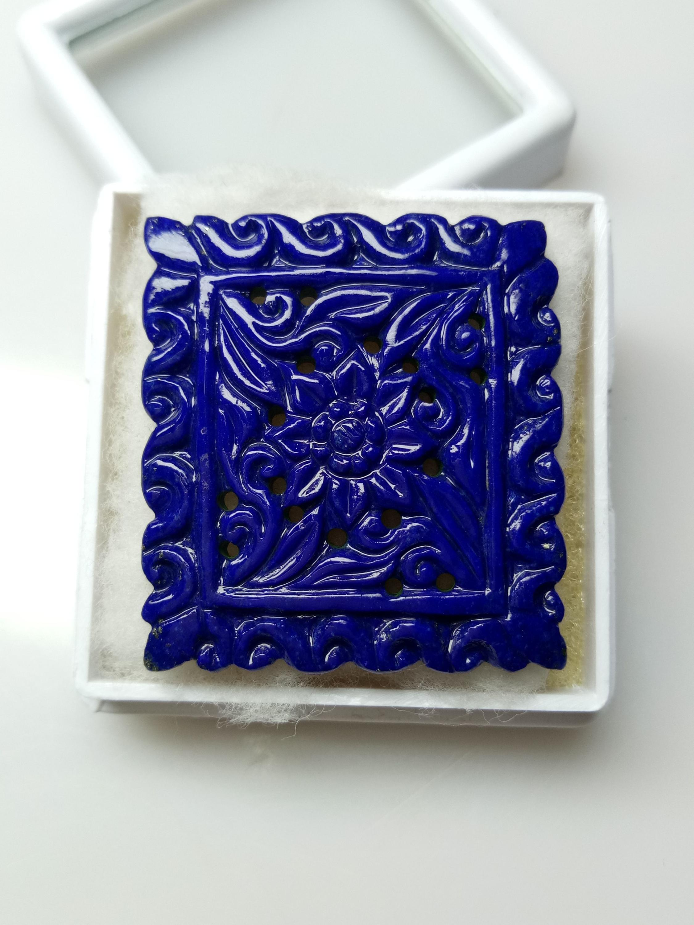 Natural lapis hand made carving !!!