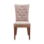 Hot selling modern room hotel luxury upholstery button tufted dining fabric chair
