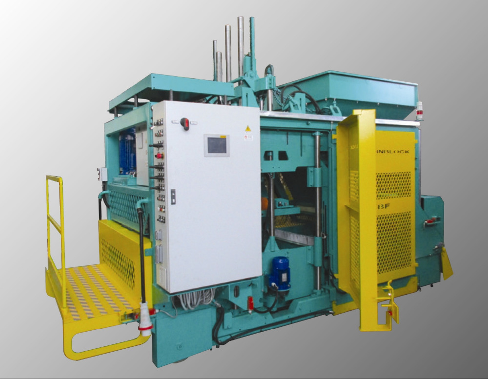 Automatic Egg-Layer Concrete Block machine SUPER, Remote Assistance, High Tech Paving machine