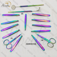 High Quality Rainbow Color Eyebrow Tweezers / Multy Color Eyelash Scissors for lashes USA