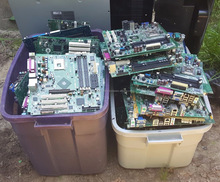 Computer CPU Scrap Gold recovery, phone scraps, motherboards