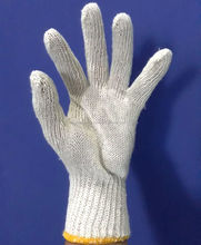 May sale Safety Knitted Hand gloves on Raw white for Industrial use or another purpose