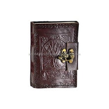 Leather Journal Tree Of Life - Handmade Blank Book Of Shadow Diary.