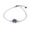 925 Sterling Silver Rhodium and Gold Plated Snowflake Kyanite bracelet gemstone jewelry 925 sterling silver