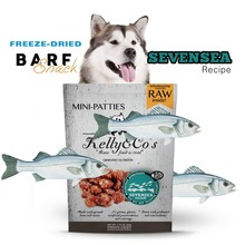 Freeze-Dried Raw Dog Food, Kelly & Co's instant Raw pet food | Sea bass 100% No Gluten, Grains & Fillers