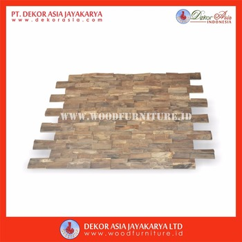 Wall Cladding Bark Type ( Wooden Wall Decoration - Wood Wall Art - Wood Wall Decor )