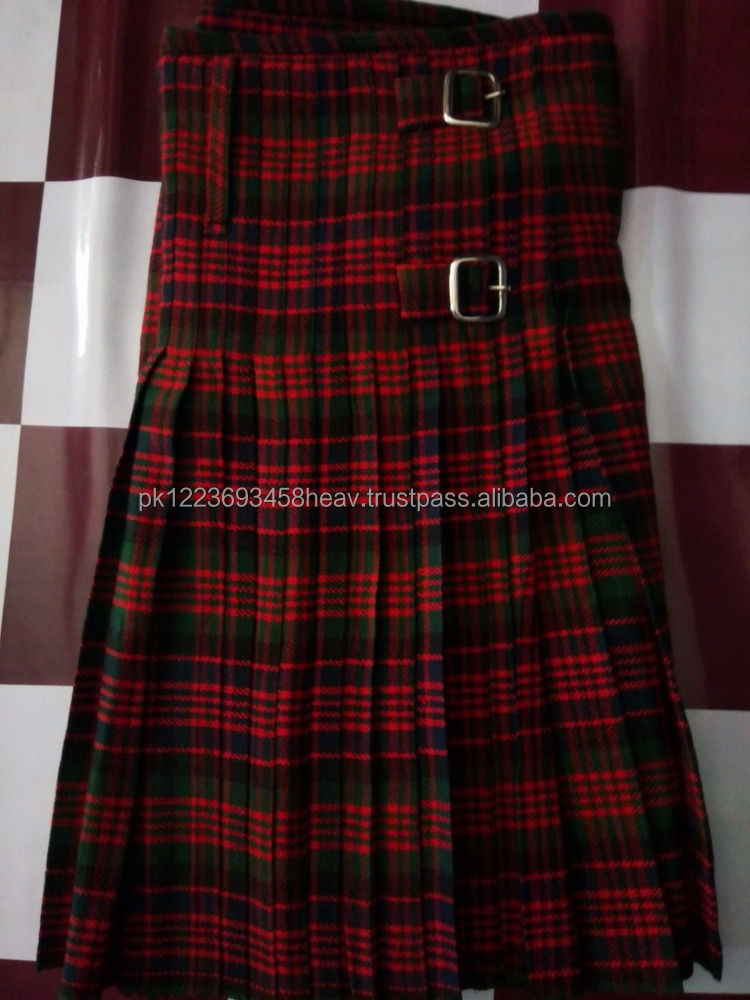Mcdonald Handmade Traditional 12 Oz Tartan 8 yards Men kilt Scottish Highland Wear