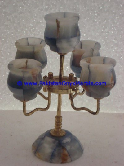 BEST SELLING ONYX BRASS CANDLESTICKS HOLDER FIVE NOZZLE
