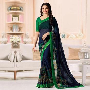 Fancy Georgette Saree Collection for Women | wholesale sari with blouse