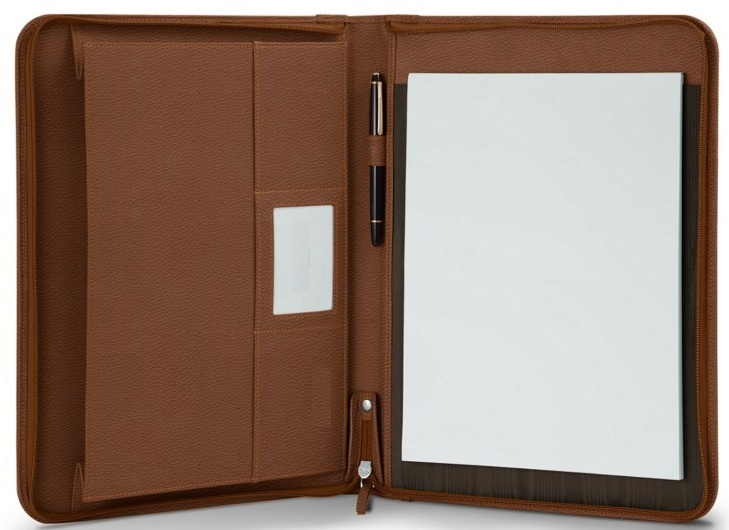 Handmade leather luxury business portfolio