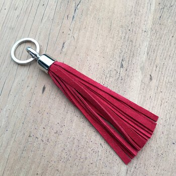 Tassel Key Ring - Red Tassel Keyring