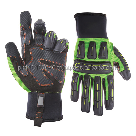 Super Quality SAFETY IMPACT LINED MECHANIC GLOVES MG-016 Impact Gloves for Oil Gas/Construction Gloves/Safe Hand Gloves