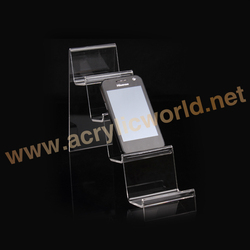 acrylic phone accessories counter display stand/counter display for USB charger/ cellphone charger display
