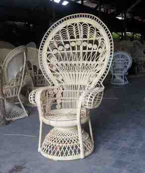 Rose wicker peacock chair for sale