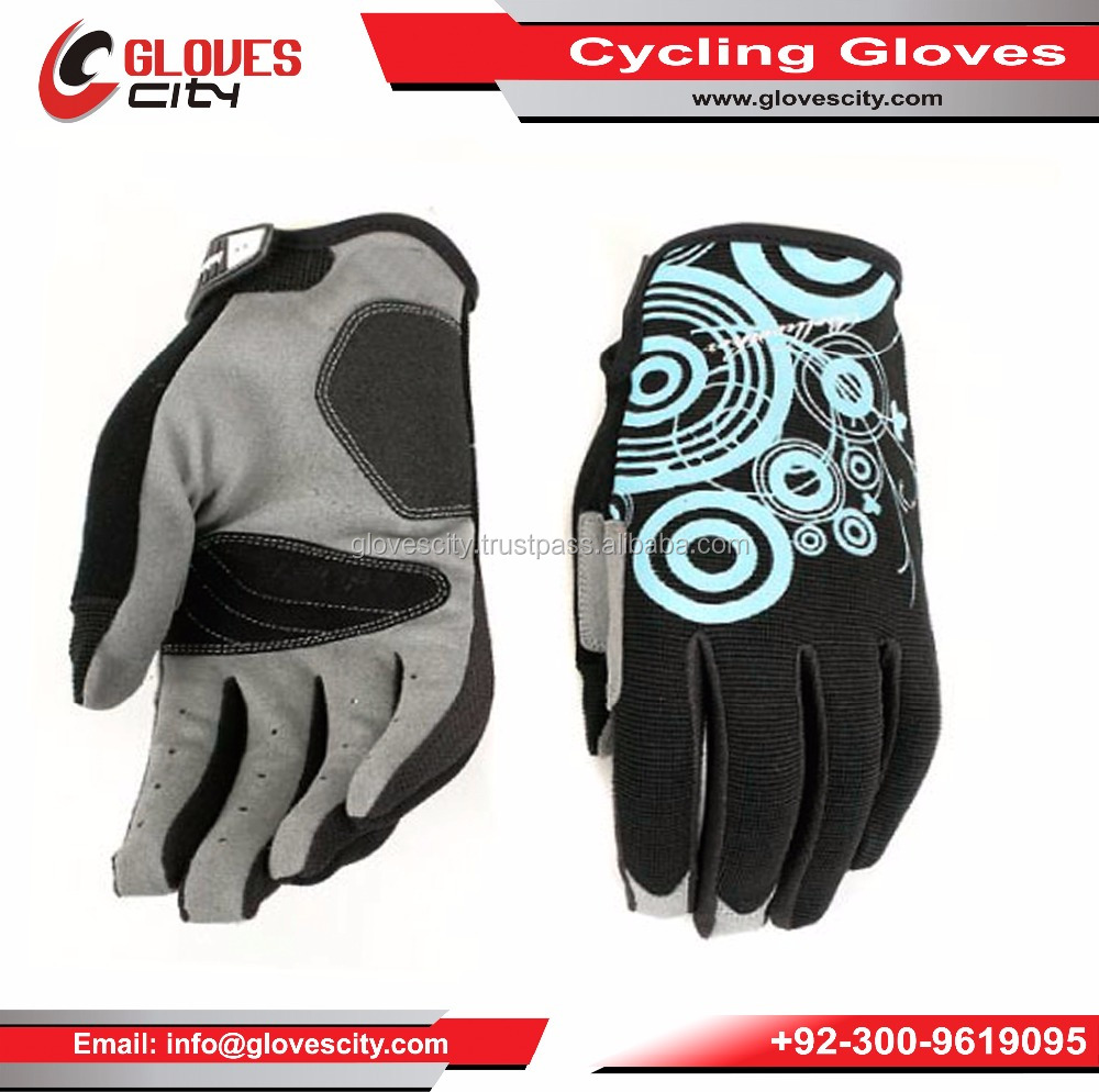 Elite Class Cyclone Gel Winter Sublimation Women Cycling Gloves,women's Bicycle gloves/