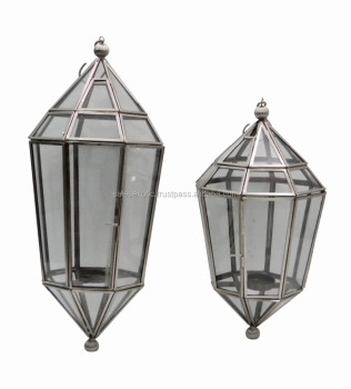 Metal Glass Hanging Lanterns
