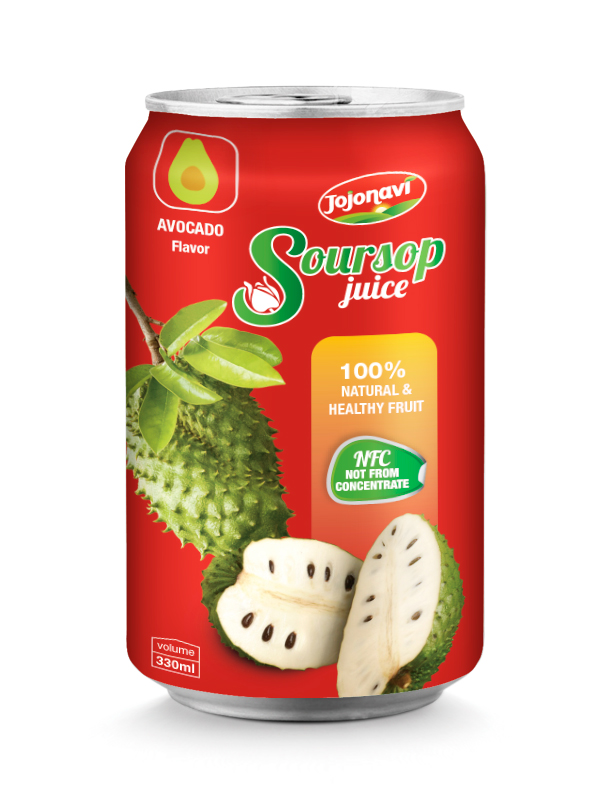 Soursop juice wholesales 100% natural and healthy fruit for 330ml