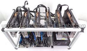 BRAND NEW Crypto Currency Mining Rig 6 x RX480 8GB Ethereum 175 MH s Zcash 1900 Sols s